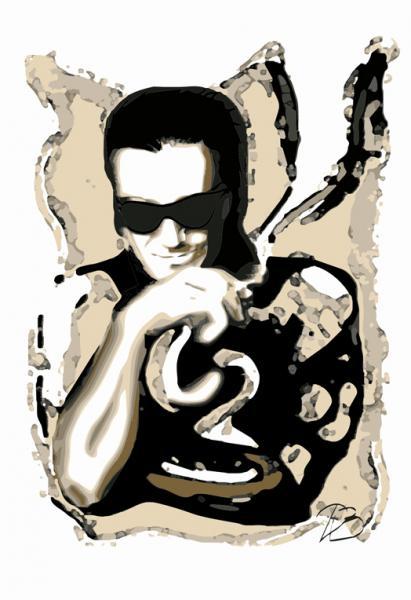 Bono - U2  Art Print