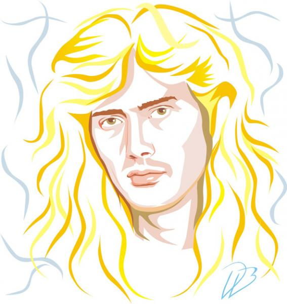 Dave Mustaine  - Nuclear Dave-Metallica Megadeth MD.45 Art Print