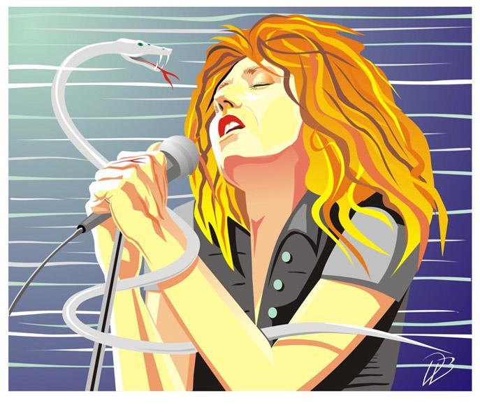 David Coverdale - Live - Whitesnakecd  Deep Purple Art Print .