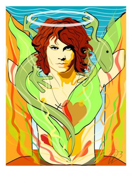 Jim Morrison - The Saint The Doors  Art Print