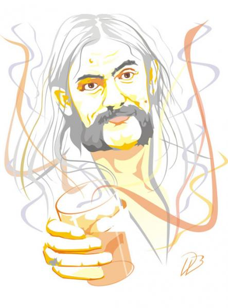 Lemmy Kilmister - Cheers Art Print Motorhead