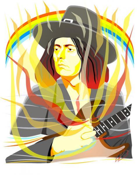 Ritchie Blackmore -  Burn - Deep Purple Rainbow Night Art Print