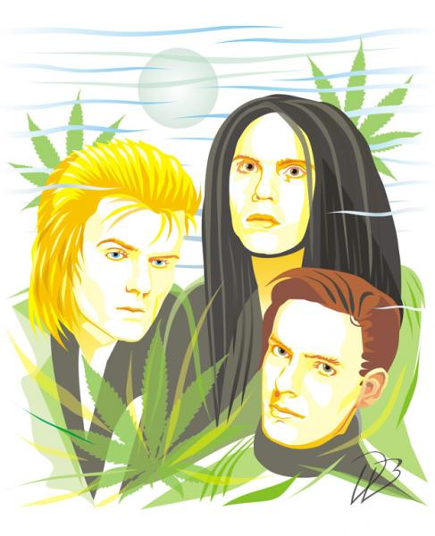 The Cult - Wild Flowers Ian Astbury Billy Duffy Jamie Stewart 3D Art Print